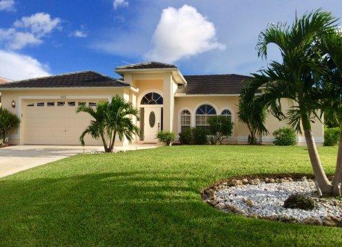 Villa Three Palms – Cape Coral, Florida mit privatem Pool für 6 Pers.
